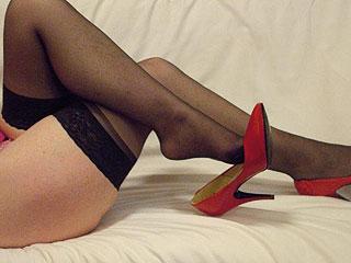 Sexy Beine in scharfen Strümpfen!